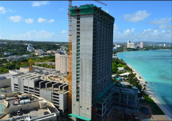 30 stories Outrigger Hotel in Guam, in 2013