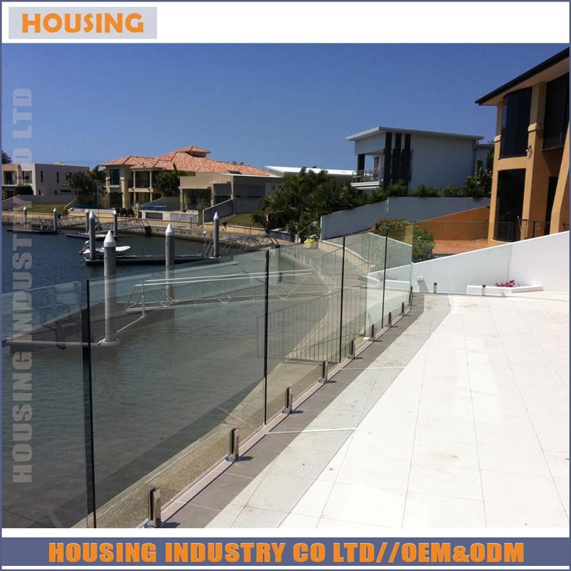 316 stainless steel glass spigot railing design(20D)