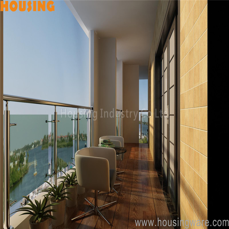 modern stainless steel railing designs with spider glass clamp(022)
