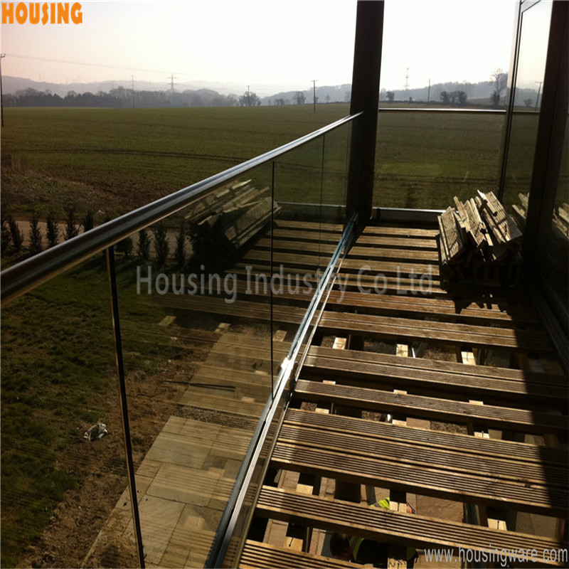 aluminum handrail fittings frameless glass balcony systems