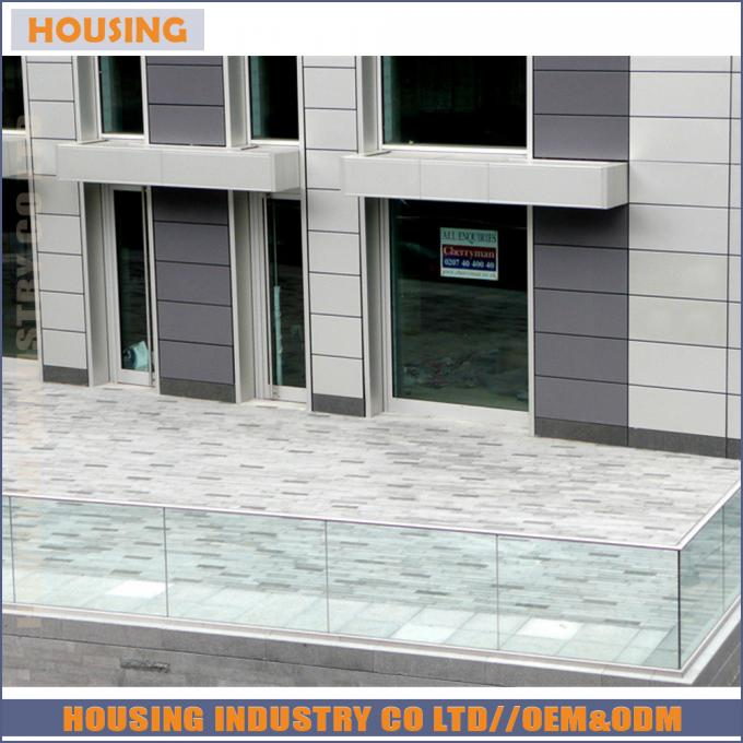 customize railing top mounted u profile wholesale price glass railing u channel railing