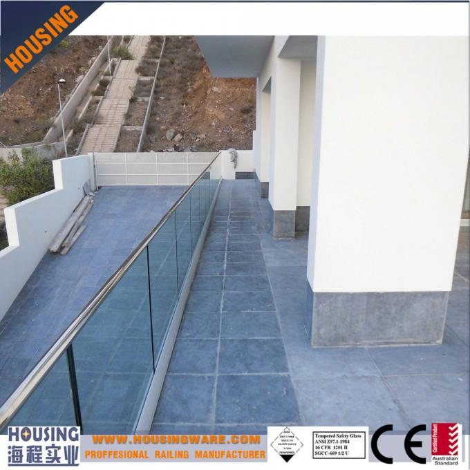 aluminum U channel glass railing designs with best price