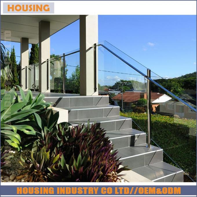 stainless steel staircase rails with laminated glass((RC1)