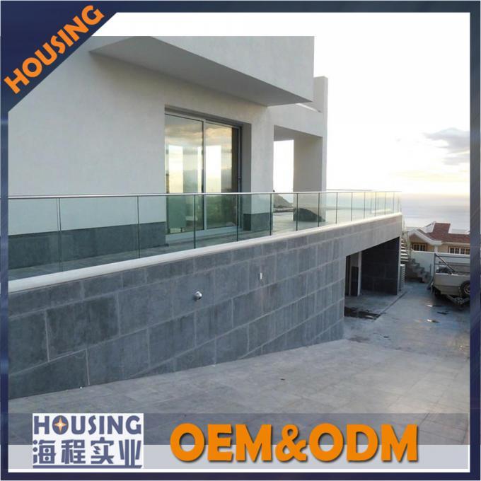 Frameless u channel glass handrails high quality railing glass fastener system