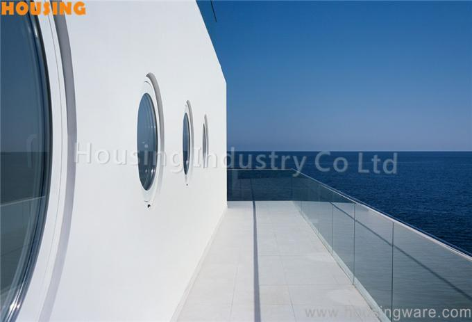 embedded frameless tempered glass railing u aluminum channel  railing system