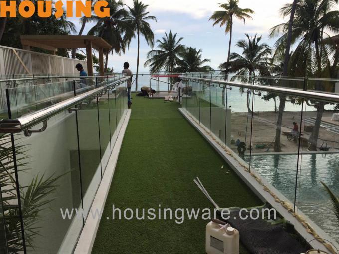 Invisible railing design villa balcony railing design Maldives channel railing