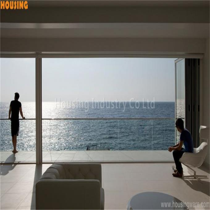 Aluminum glass railing system 12 to 19mm aluminum u channel frameless glass railing for balcony