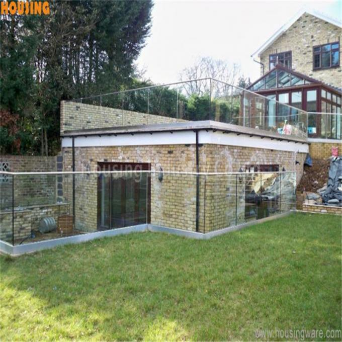 modern balcony railing design glass with aluminium U channel