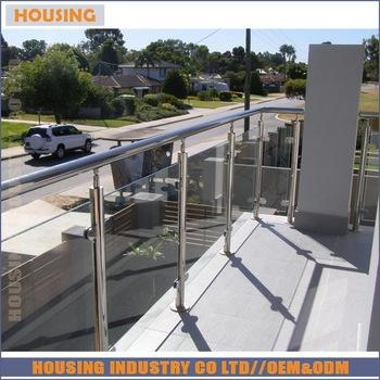 External high quality glass balustrade with American standard(023)