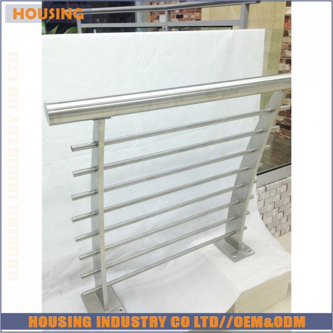 floor mounted home railing design with stainless steel cross bar connector(033)