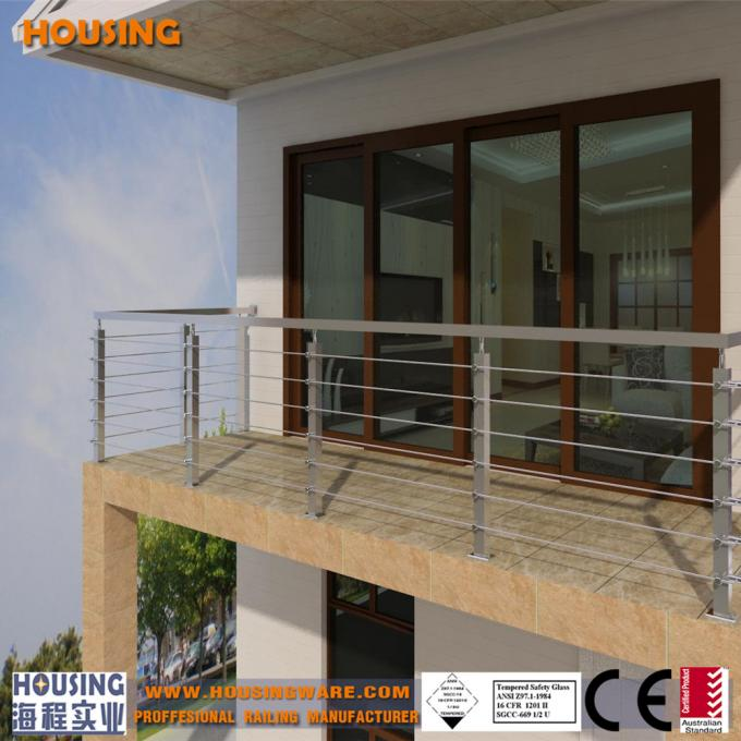 Balcony handrails with stainless steel bar in good price(034)