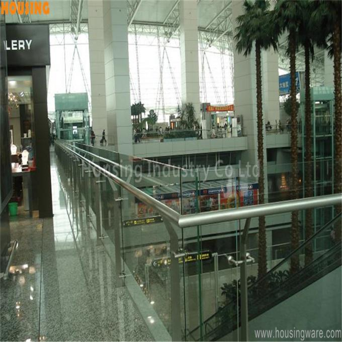 316 stainless steel glass railing systems with flat bar baluster(035)