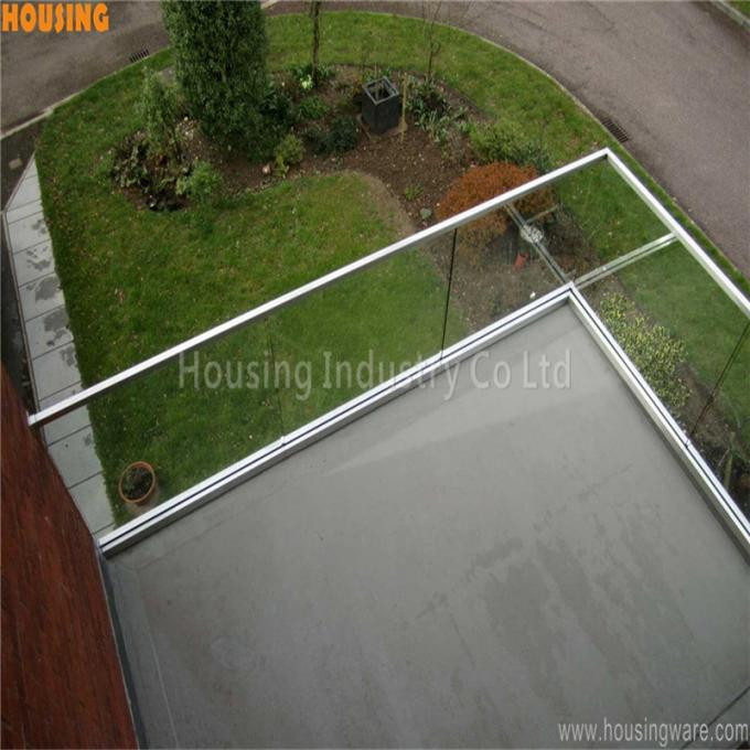 u channel glazed balustrade systems 10+10mm laminated glass railing