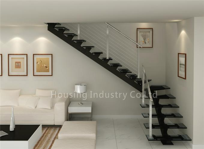 High quality glass staircase with cable railing(HS-RHS BEAM-GT-24)