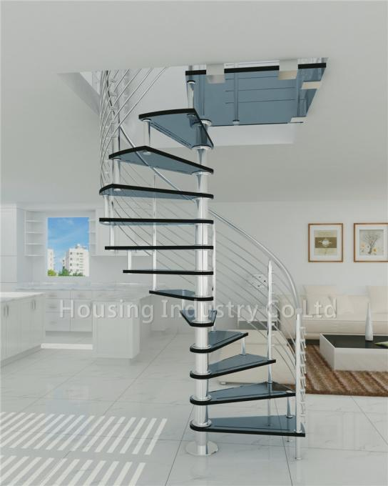 Customized DIY glass spiral staircases (HS-SPIRAL-GT-06)