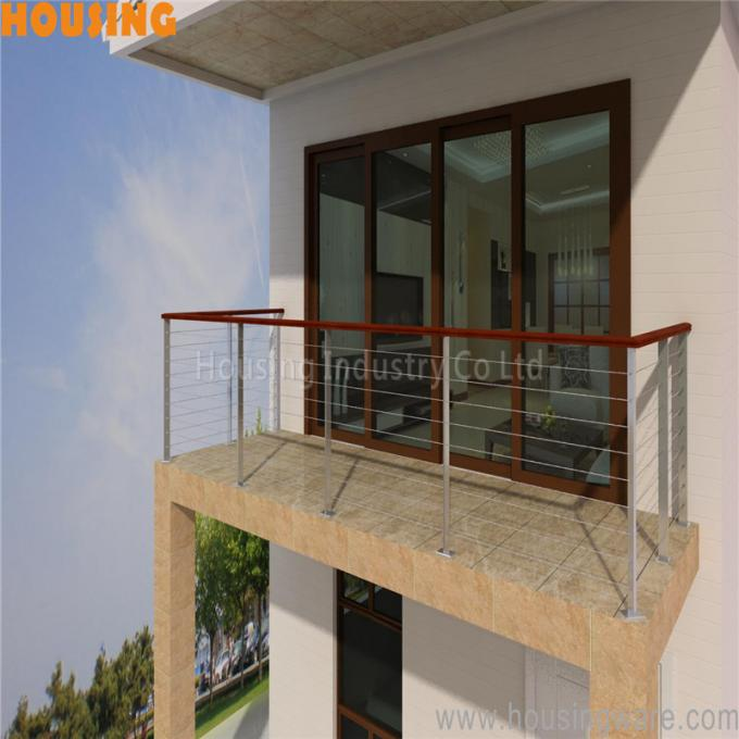 outdoor round post cheap stainless steel rope wire balcony railing(032)